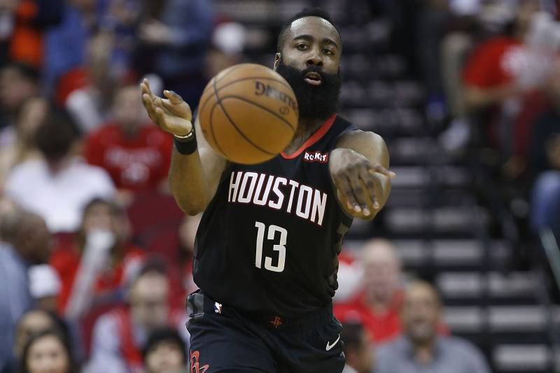 a98ea6aca2c4 James Harden Drops 31 as Rockets Rout 76ers Without Injured Joel ...