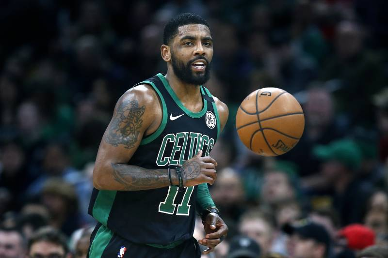 73499a29c614 Boston Celtics  Kyrie Irving plays against the Houston Rockets during the  first half of an