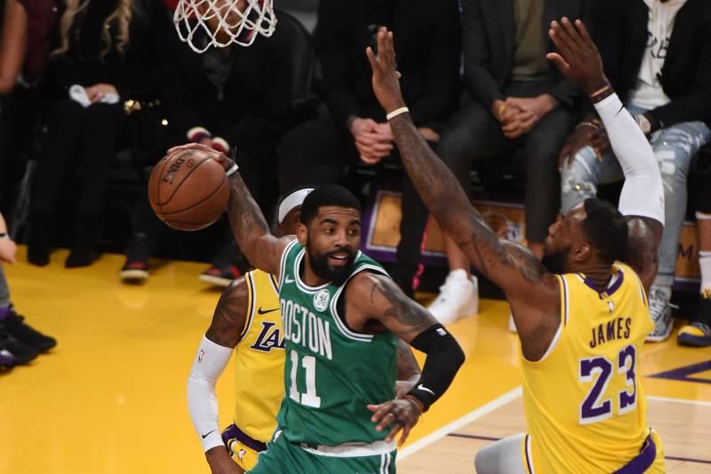 bcc38f433 Kyrie Irving, Celtics Cruise Past Lakers Despite LeBron James ...
