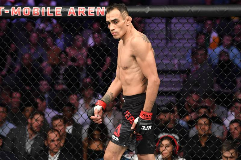 LAS VEGAS, NV - OCTOBER 06:  Tony Ferguson walks the octagon in his lightweight bout during the UFC 229 event inside T-Mobile Arena on October 6, 2018 in Las Vegas, Nevada.  (Photo by Josh Hedges/Zuffa LLC/Zuffa LLC)