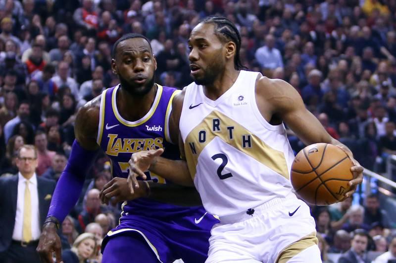 the latest 37b85 2e0b2 Kawhi Leonard, Raptors Beat LeBron James, Reeling Lakers 111 ...