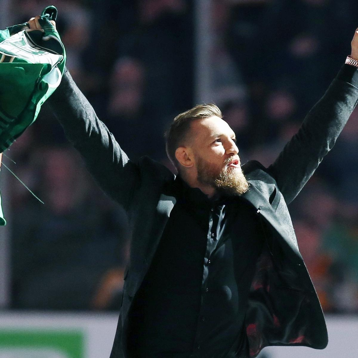 The Boston Bruins had a famous cheerleader ahead of their 2-1 overtime win over the Columbus Blue Jackets on Saturday: MMA fighter Conor McGregor ...