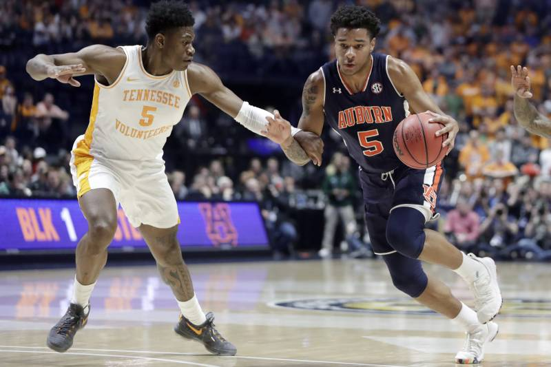 No 22 Auburn Dominates No 8 Tennessee To Win 2019 Sec