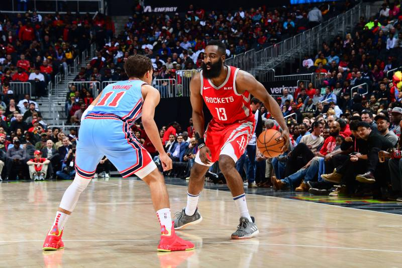 da300df57 James Harden Passes Stephen Curry for Most 3-Point Shot Attempts in ...