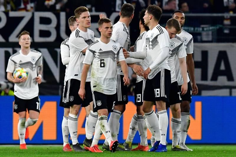 check out 5e20d d0442 Leon Goretzka and Luka Jovic Score as Germany, Serbia Play ...