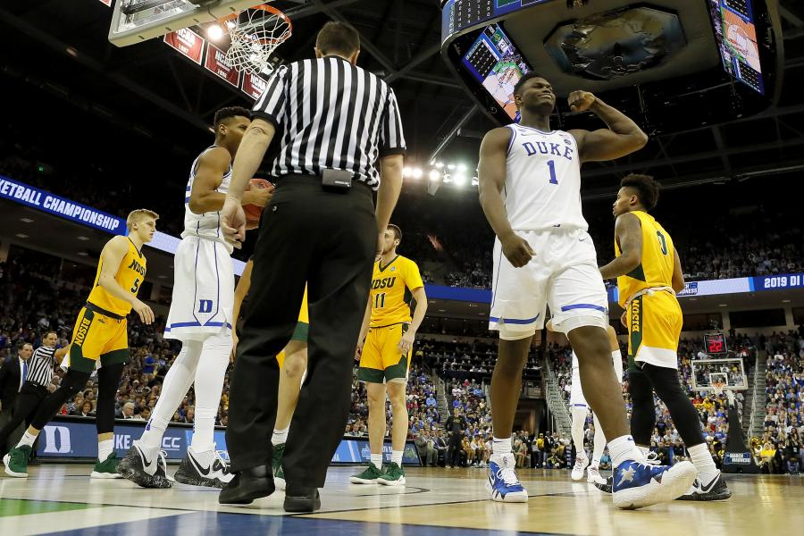 Video: Zion Williamson Drops 25 Points in March Madness Debut as Duke Beats NDSU