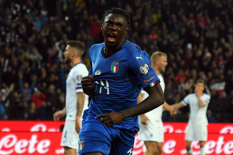 90498ac33 Moise Kean Praises Cristiano Ronaldo Influence After Record-Breaking Italy  Goal