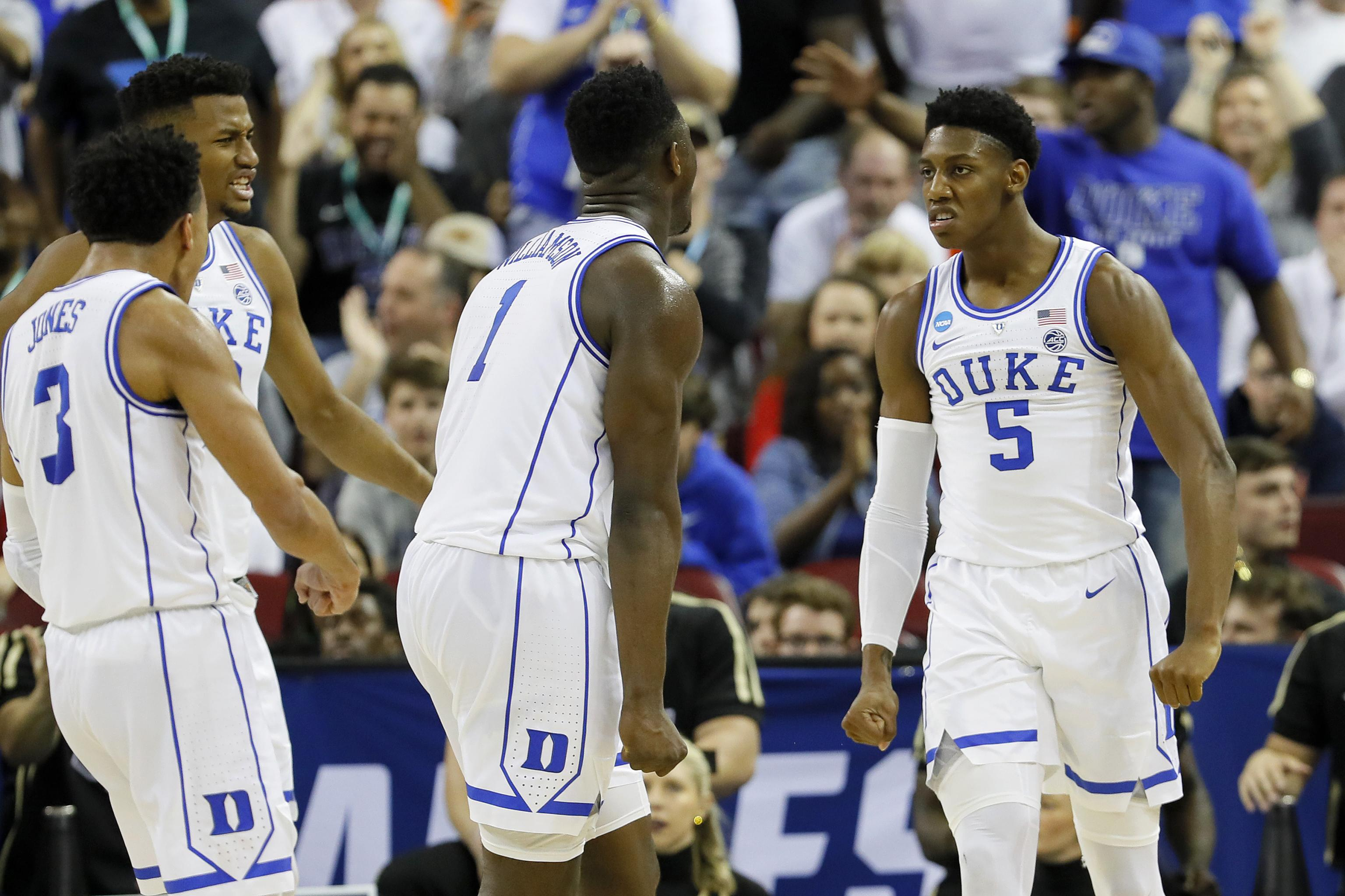 competitive price c3e76 c9d51 Video: RJ Barrett Gives Duke Lead with Putback on Zion ...