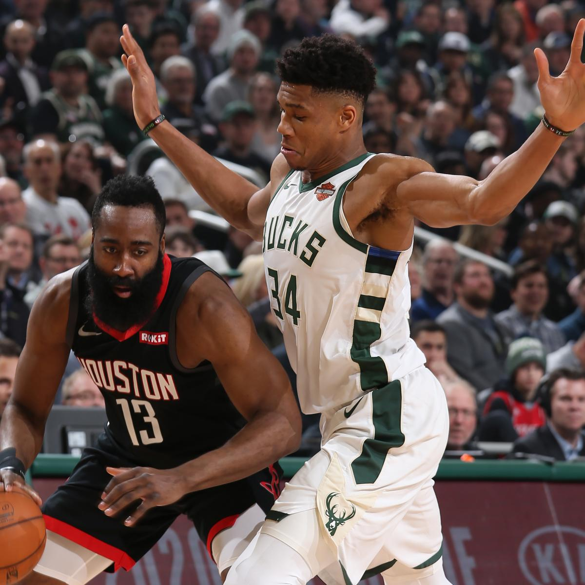 1ceb658a7878 Giannis Antetokounmpo Outduels James Harden as Bucks Rout Rockets ...