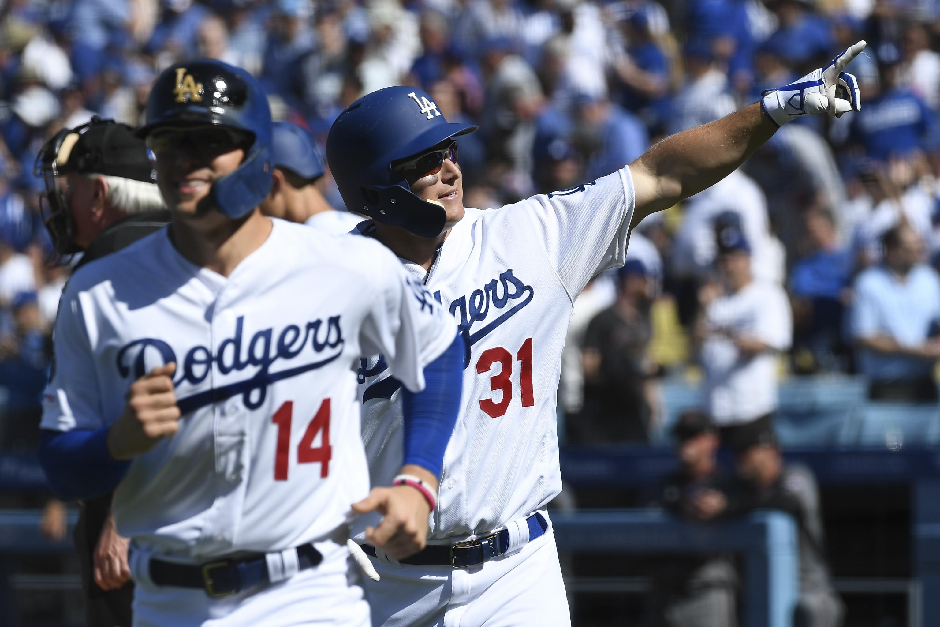 new york 826b0 3d908 Joc Pederson, Dodgers Set MLB Opening Day Record with 8 HRs ...