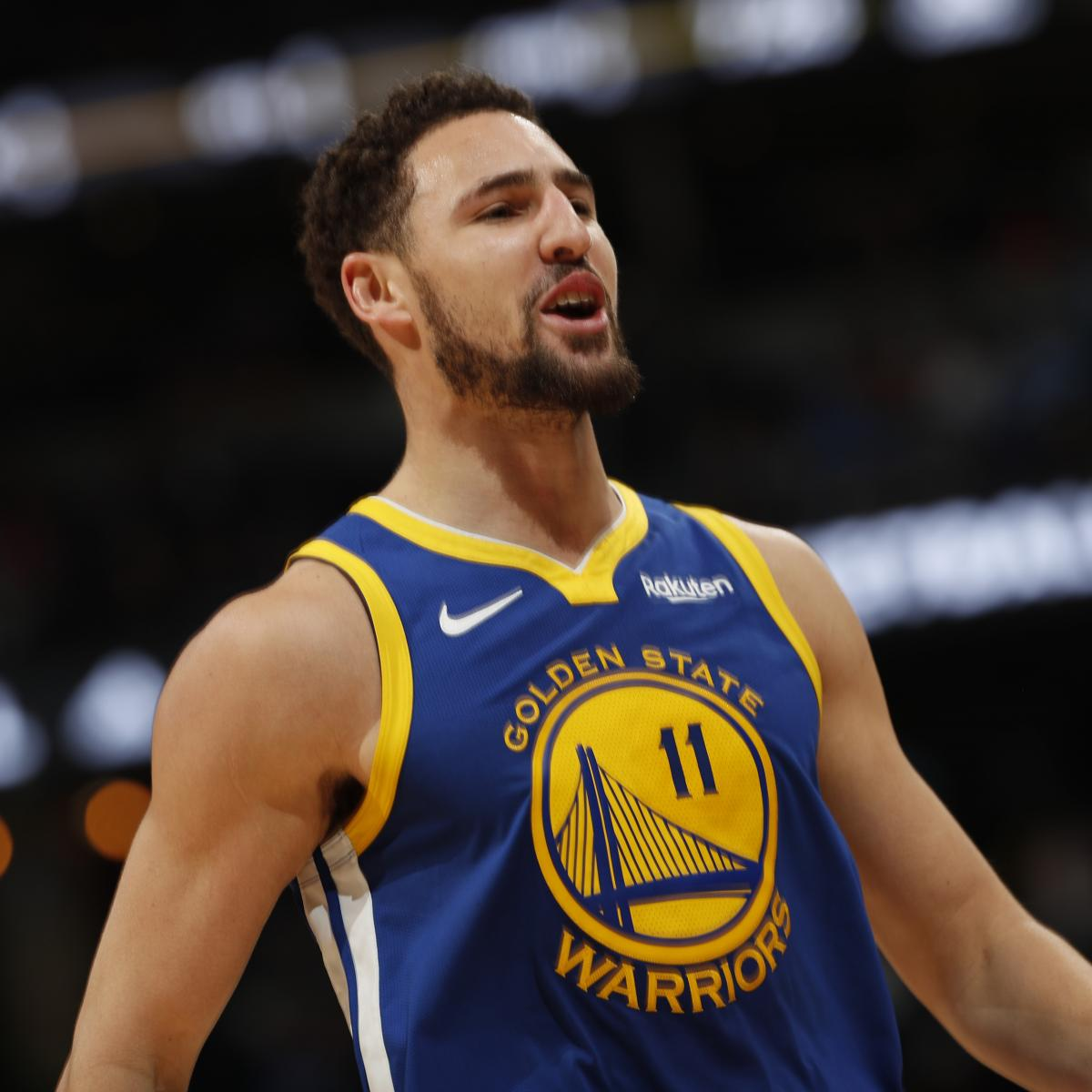 Rockets Vs Warriors Head To Head This Season: Warriors' Klay Thompson To Play In Game 1 Vs. Rockets