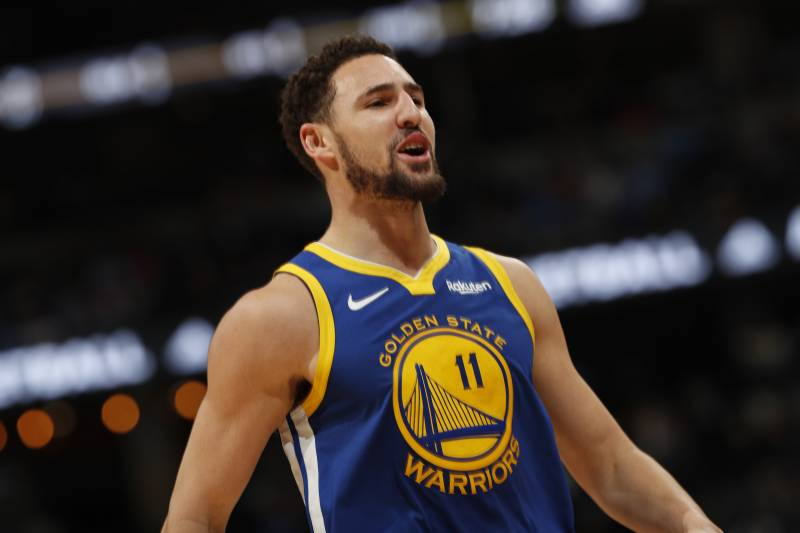 2b2773376d0c Golden State Warriors guard Klay Thompson (11) in the second half of an NBA