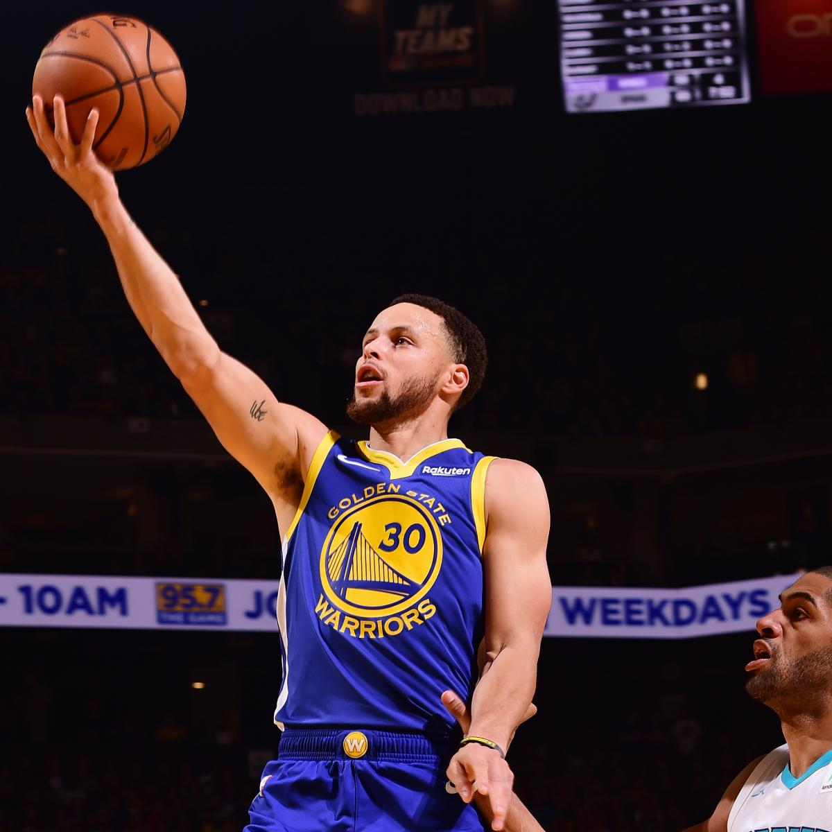 Stephen Curry scored 25 points and Klay Thompson added 24 more as the Golden State Warriors crushed the Charlotte Hornets 137-90 on Sunday at Oracle Arena in Oakland, California...