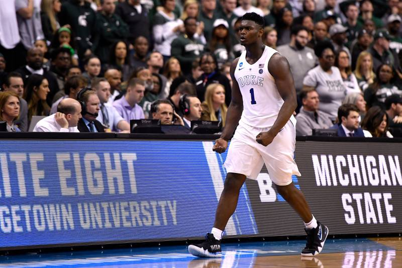 outlet store 9845b 1da89 Report  Zion Williamson Shoe Deal Expected to Reach  100M in Major Bidding  War