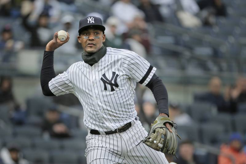 444f11b2d New York Yankees  Miguel Andujar throws to first base during the second  inning of a