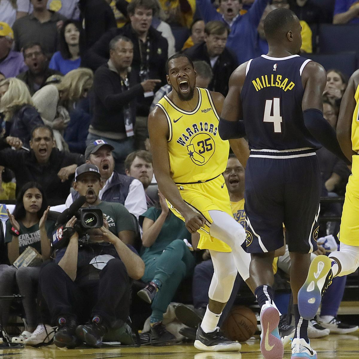 Nuggets Quarter Season Tickets: Kevin Durant, Stephen Curry Power Dominant Warriors Past