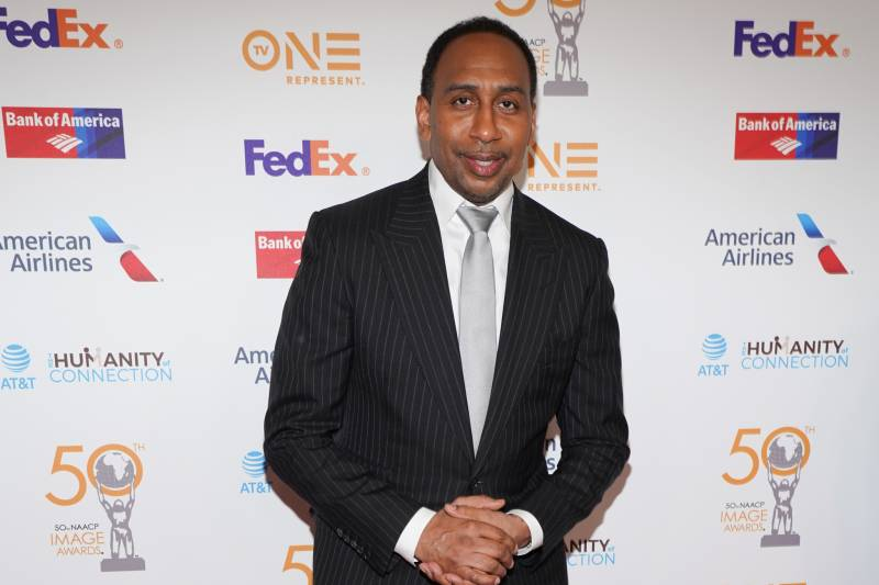 HOLLYWOOD, CALIFORNIA - MARCH 29: Stephen A. Smith attends the 50th NAACP Image Awards Non-Televised Dinner at Beverly Hilton Hotel on March 29, 2019 in Beverly Hills, California.  (Photo by Rachel Luna/Getty Images)