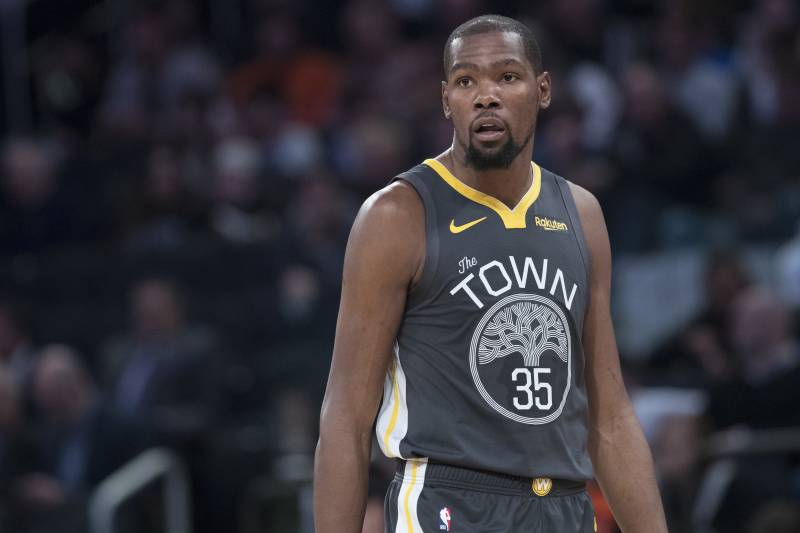 247375595c3d Golden State Warriors forward Kevin Durant reacts during the second half of  an NBA basketball game