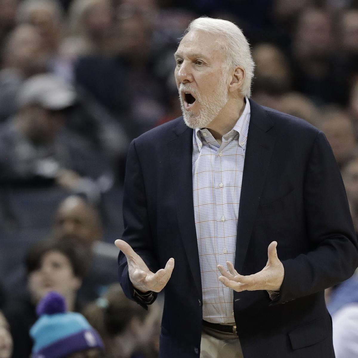 Video: Watch Gregg Popovich Get Ejected 63 Seconds Into