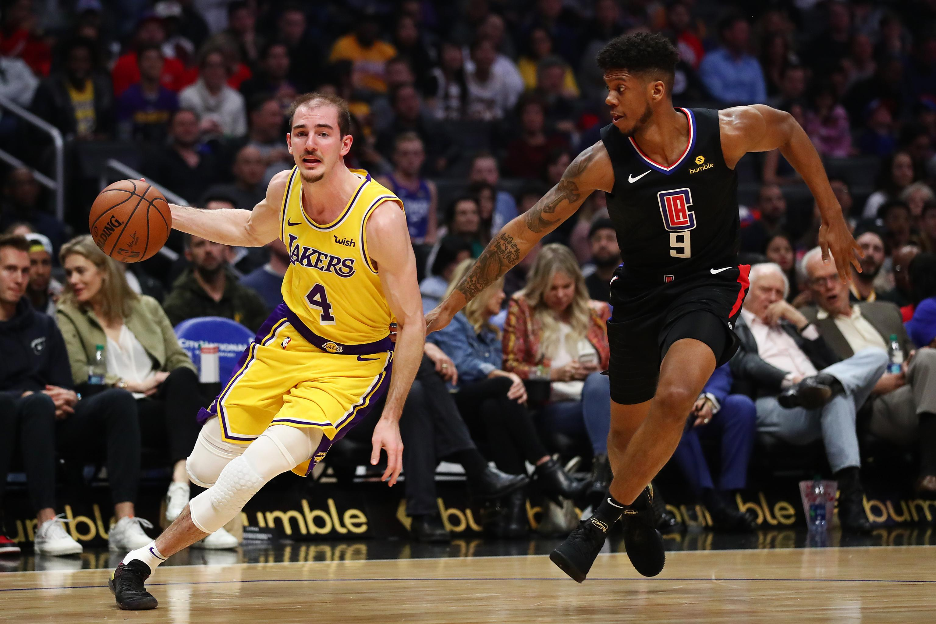 a1ad075202aa Alex Caruso s Career-High 32 Leads Lakers to Win over Lou Williams ...