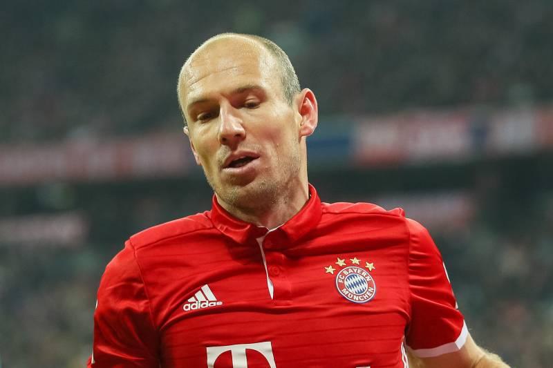 8f59afe34 MUNICH, GERMANY - DECEMBER 10: Arjen Robben of Muenchen looks on during the  Bundesliga