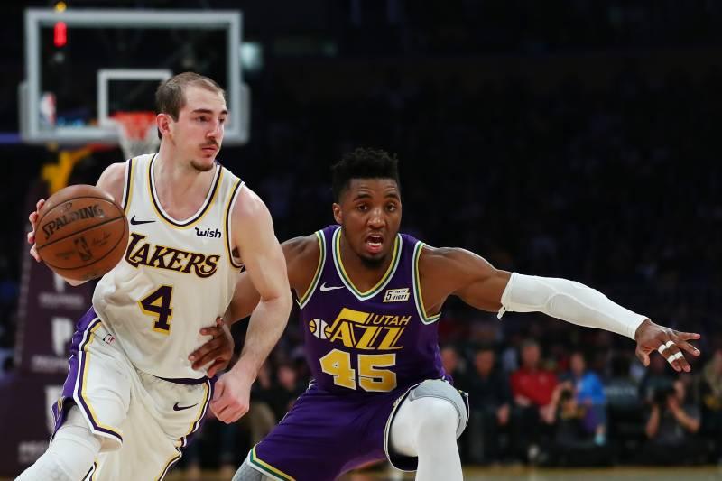 8bb689e7e LeBron James-Less Lakers Beat Donovan Mitchell