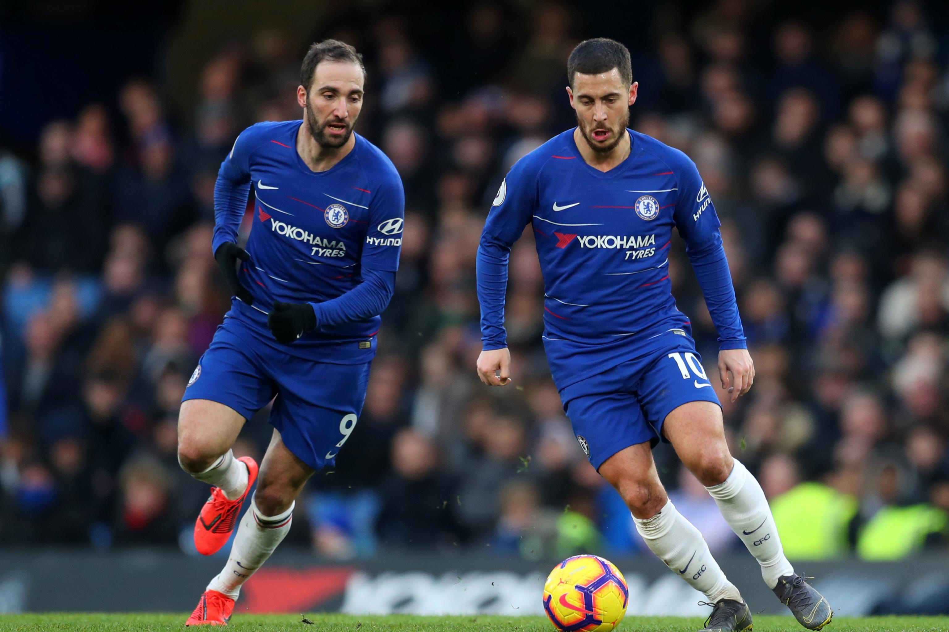 Image result for GONZALO HIGUAIN OPENS UP ON EDEN HAZARD'S DESIRE TO MOVE TO REAL MADRID