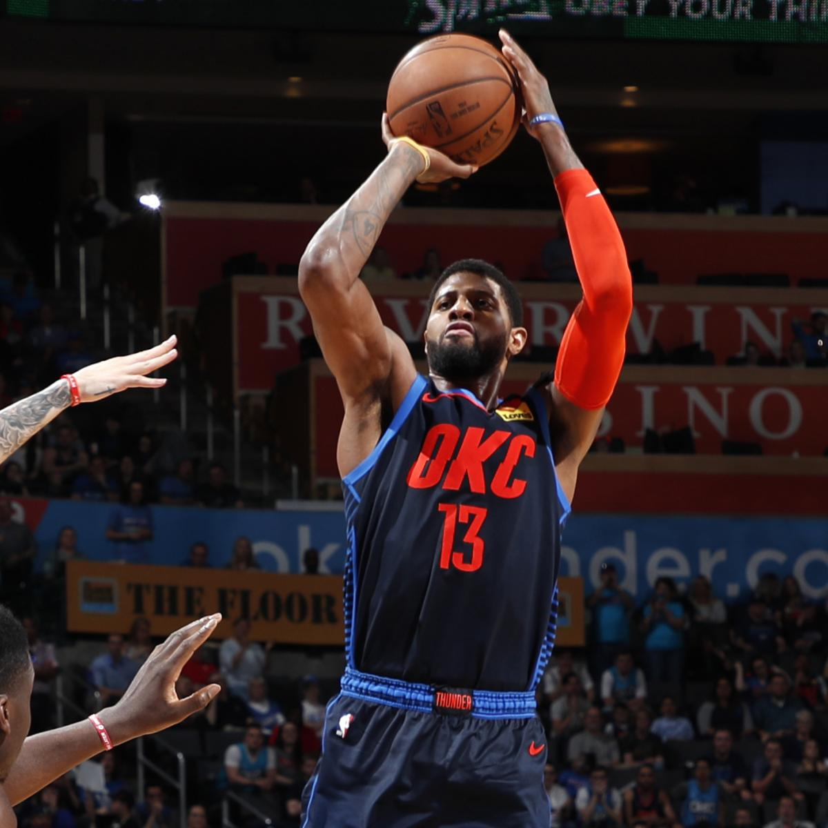 James Harden And Paul George: Paul George Buzzer-Beater Powers Thunder Past James Harden