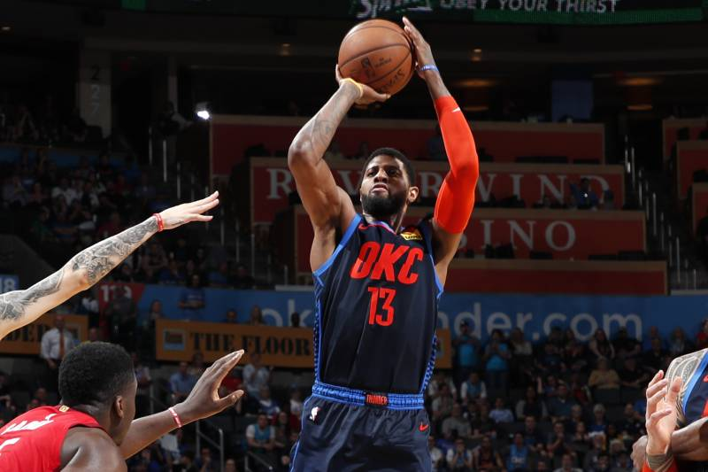 23bf87121a9b Paul George Buzzer-Beater Powers Thunder Past James Harden