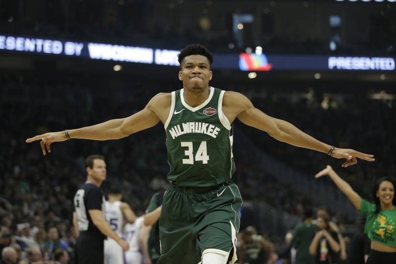 4469414f2b4 Giannis Antetokounmpo and the Bucks have home-court advantage through the  playoffs.