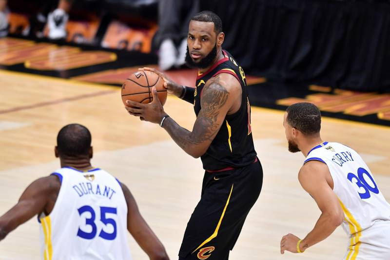 best service 4bd84 154a4 CLEVELAND, OH - JUNE 06  LeBron James  23 of the Cleveland Cavaliers is