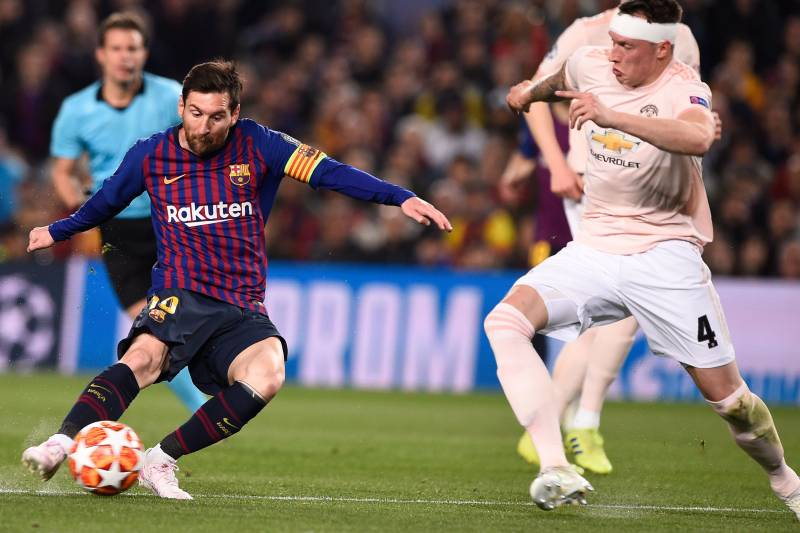 Lionel Messi Brace Leads Barcelona To Win Vs Manchester United