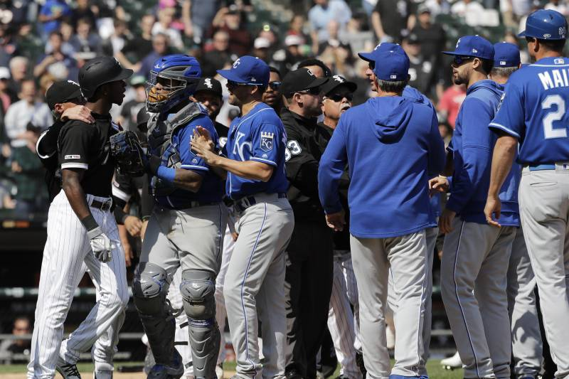 Fine Video White Sox Royals Benches Clear After Tim Anderson Onthecornerstone Fun Painted Chair Ideas Images Onthecornerstoneorg