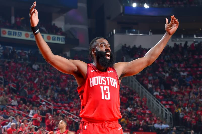 eaf0c198b502 James Harden Continues Torrid Streak as Rockets Rout Jazz in Game 2 ...