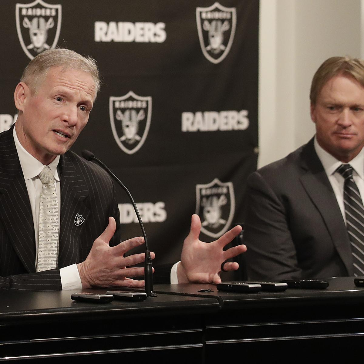 There is reportedly a significant schism within the Oakland Raiders ' front office heading toward the 2019 NFL draft next week...