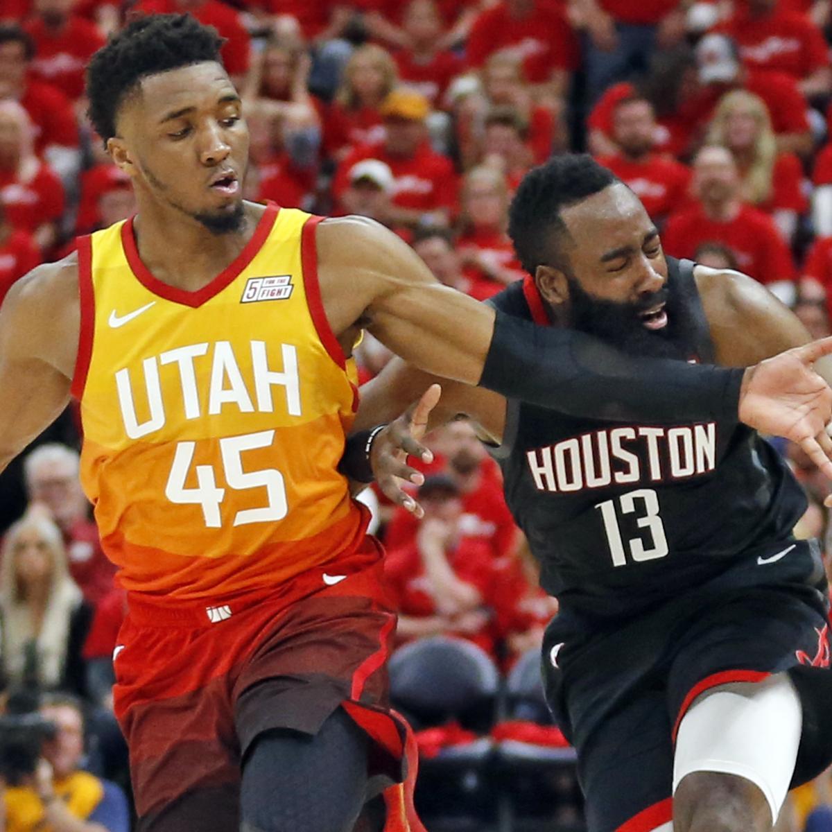 James Harden Vs Jazz: Rockets Win Game 3 Vs. Donovan Mitchell, Jazz Despite