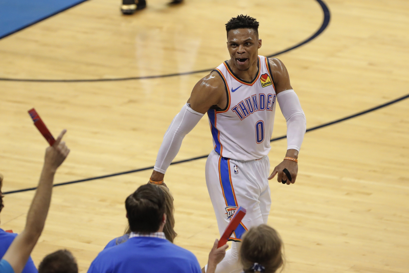 Watch Thunder's Russell Westbrook's New Response to Reporter After Game 4 Loss