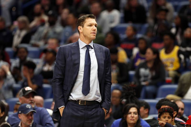 bcbab416b3e Los Angeles Lakers head coach Luke Walton during the first half of an NBA  basketball game