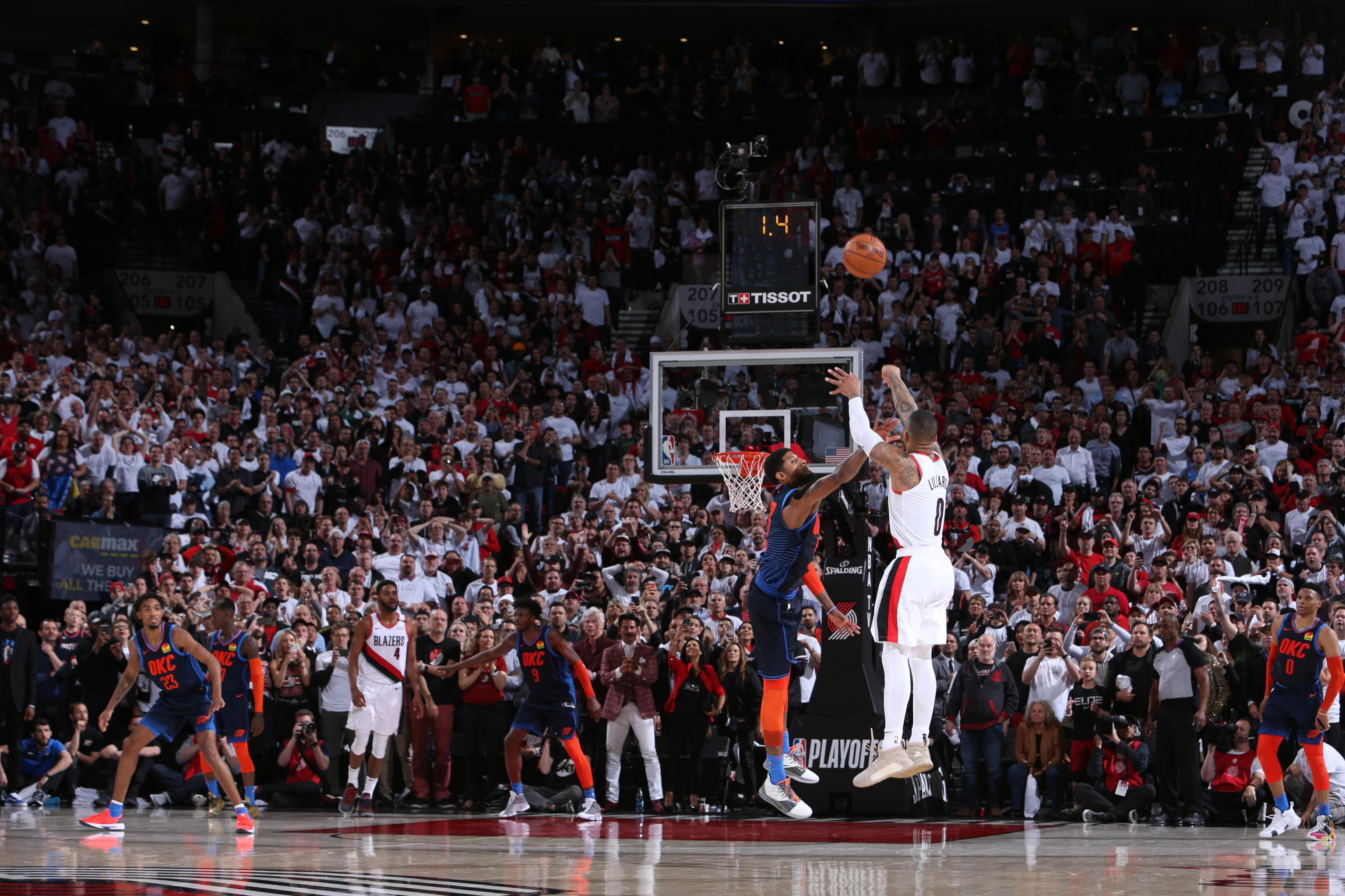 6c91b9bda0f4 Damian Lillard Buzzer-Beater Gives Blazers Game 5 Win vs. Paul George