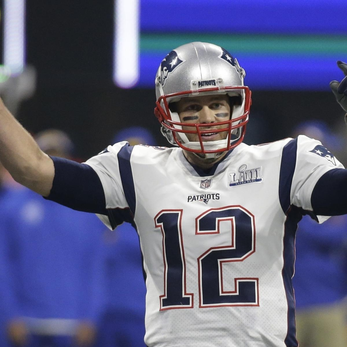 New England Patriots quarterback Tom Brady led all NFL players in officially licensed merchandise sold during the one-year period from March 1, 2018, through Feb. 28, 2019..
