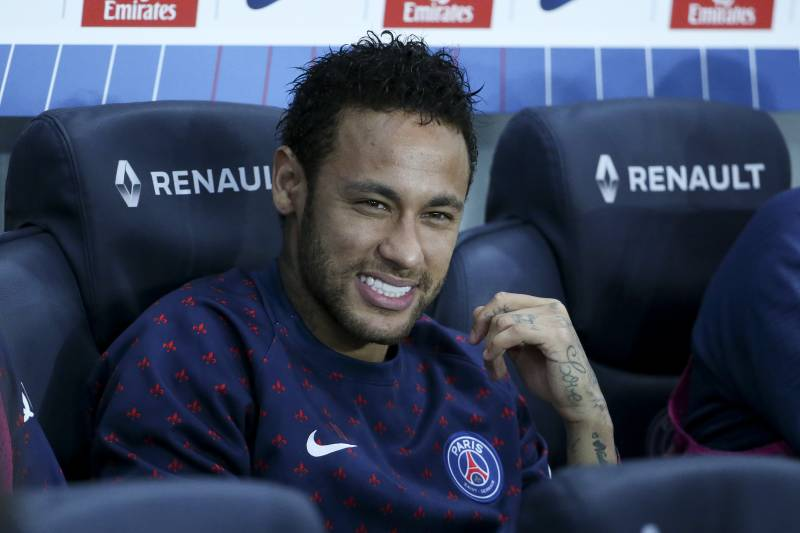PARIS, FRANCE - APRIL 21: Neymar Jr of PSG started the match on the bench during the French Ligue 1 match between Paris Saint-Germain (PSG) and AS Monaco (ASM) at Parc des Princes stadium on April 21, 2019 in Paris, France. (Photo by Jean Catuffe/Getty Images)