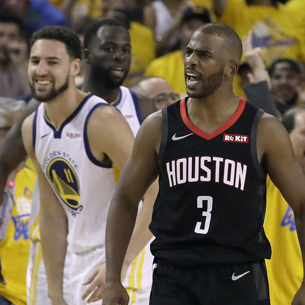 Golden State Warriors Vs Houston Rockets Live Stream Free: Video: Chris Paul Ejected After Wild Sequence At The End