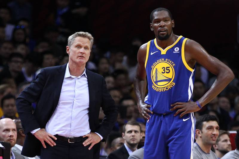 low priced 774a3 9f06d Watch Warriors' Steve Kerr Compare Kevin Durant's Recent ...