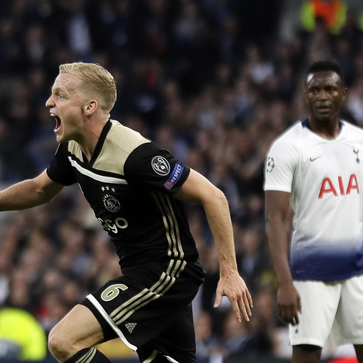 Donny Van De Beek's Goal Leads Ajax To Win Vs. Tottenham