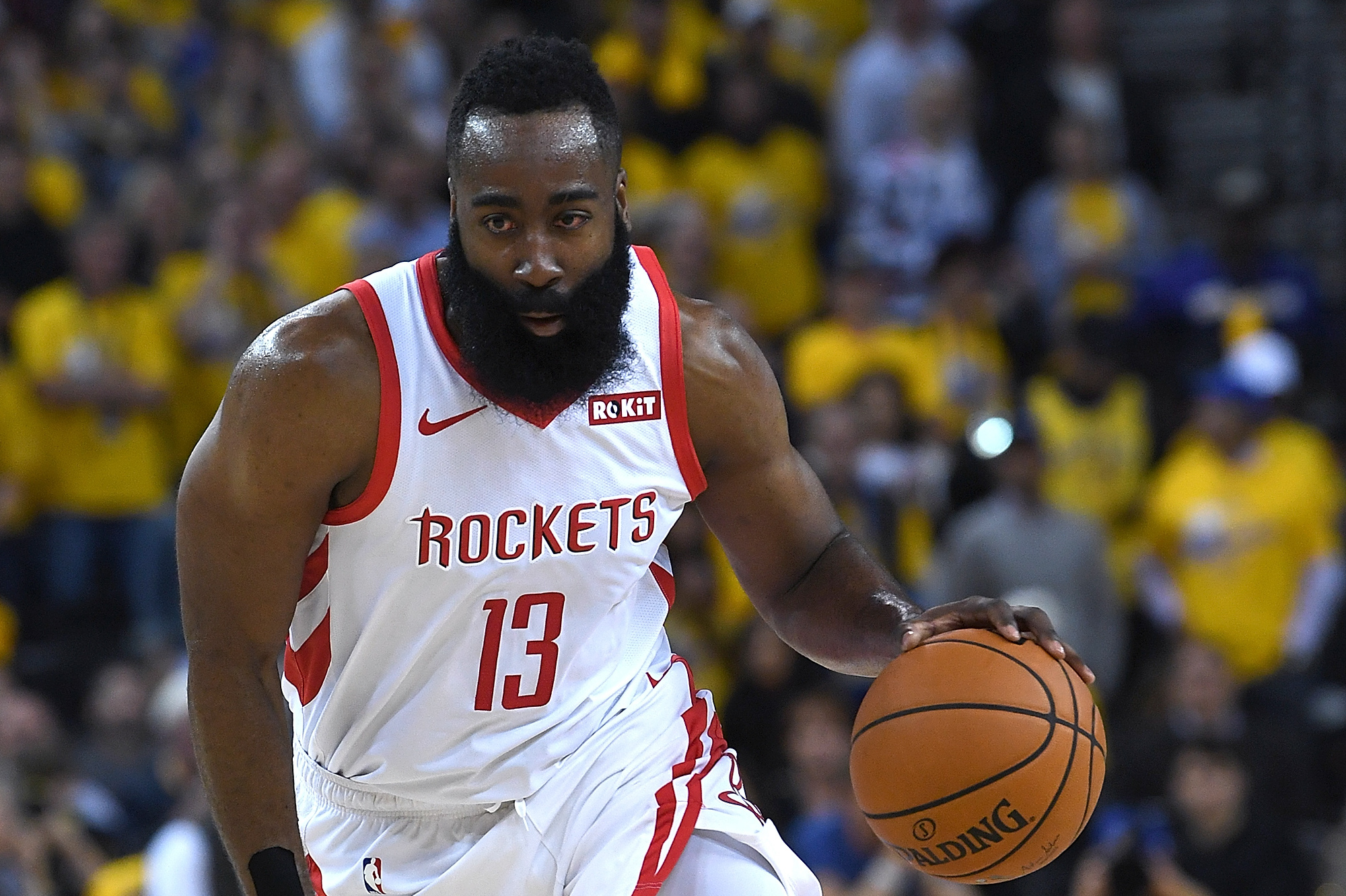 96f8746c1040 Look  James Harden s Eye Bloodied After Injury in Warriors vs. Rockets Game  2