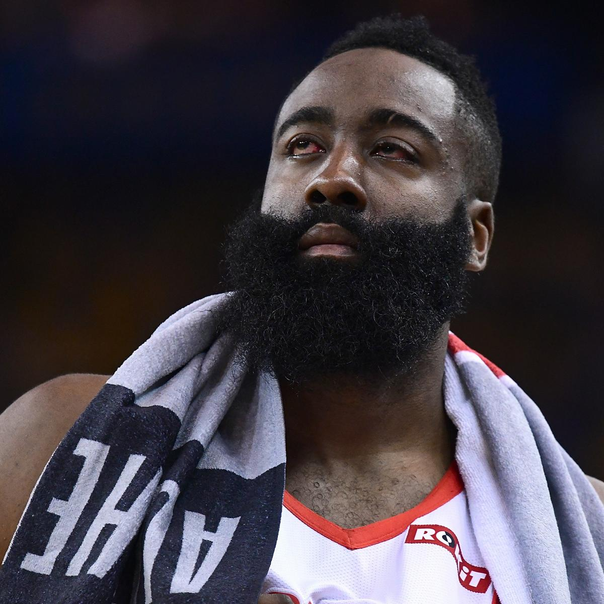 James Harden 'Could Barely See' After Eye Injury in Rockets vs. Warriors Game 2