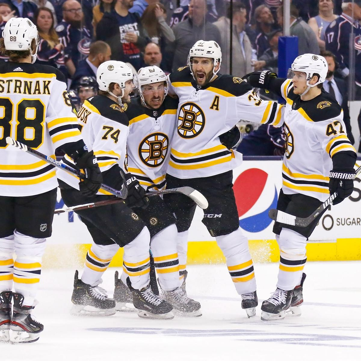 Patrice Bergeron, Bruins Capture Game 4 Win Over Blue