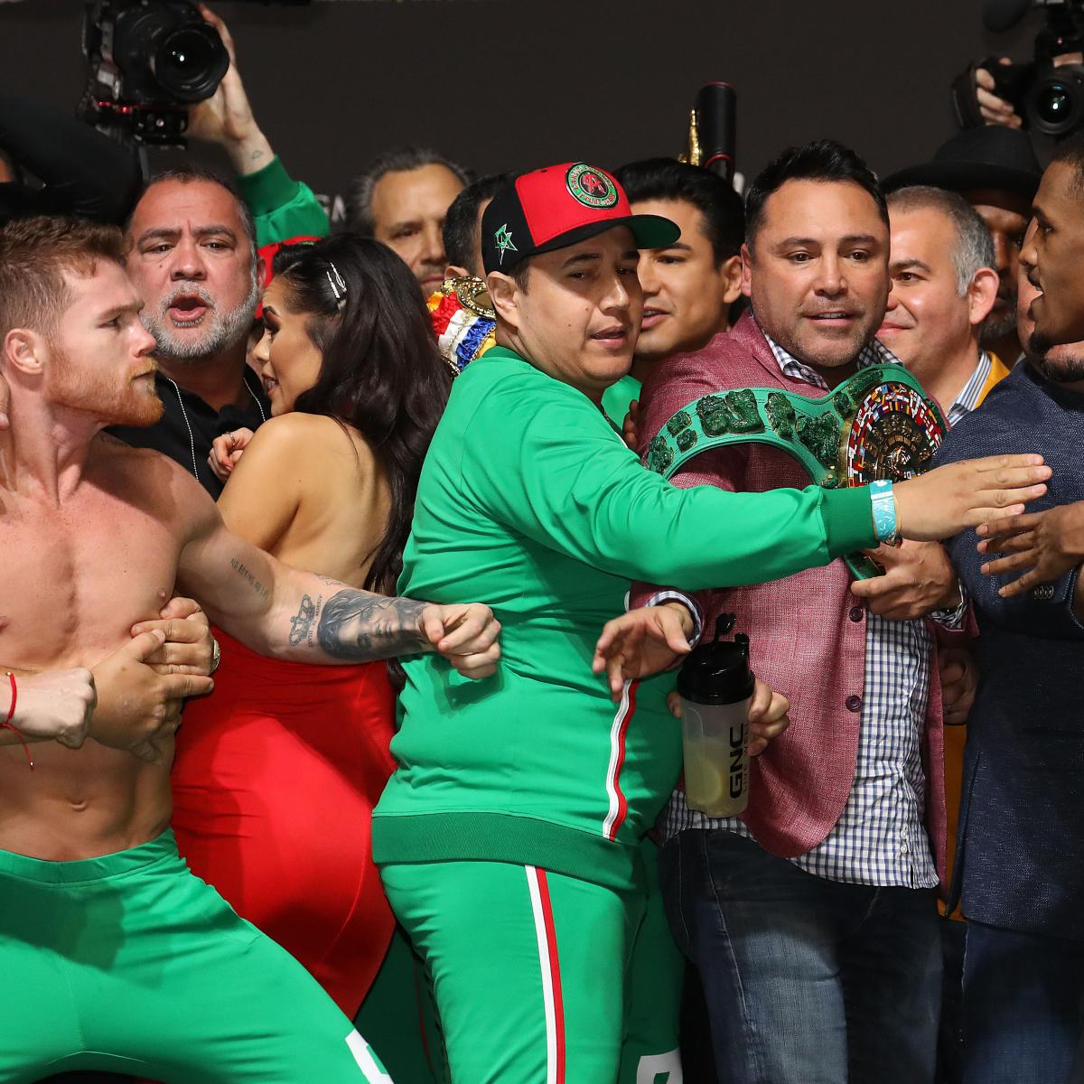 Video: Watch Canelo Alvarez And Daniel Jacobs Scuffle At