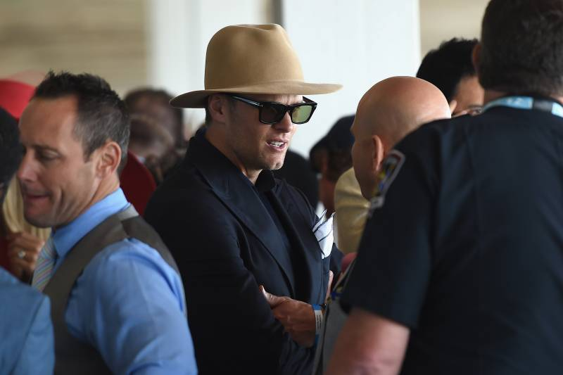 LOUISVILLE, KY - MAY 06:  Tom Brady attends the 143rd Kentucky Derby at Churchill Downs on May 6, 2017 in Louisville, Kentucky.  (Photo by Nicholas Hunt/Getty Images for Churchill Downs)