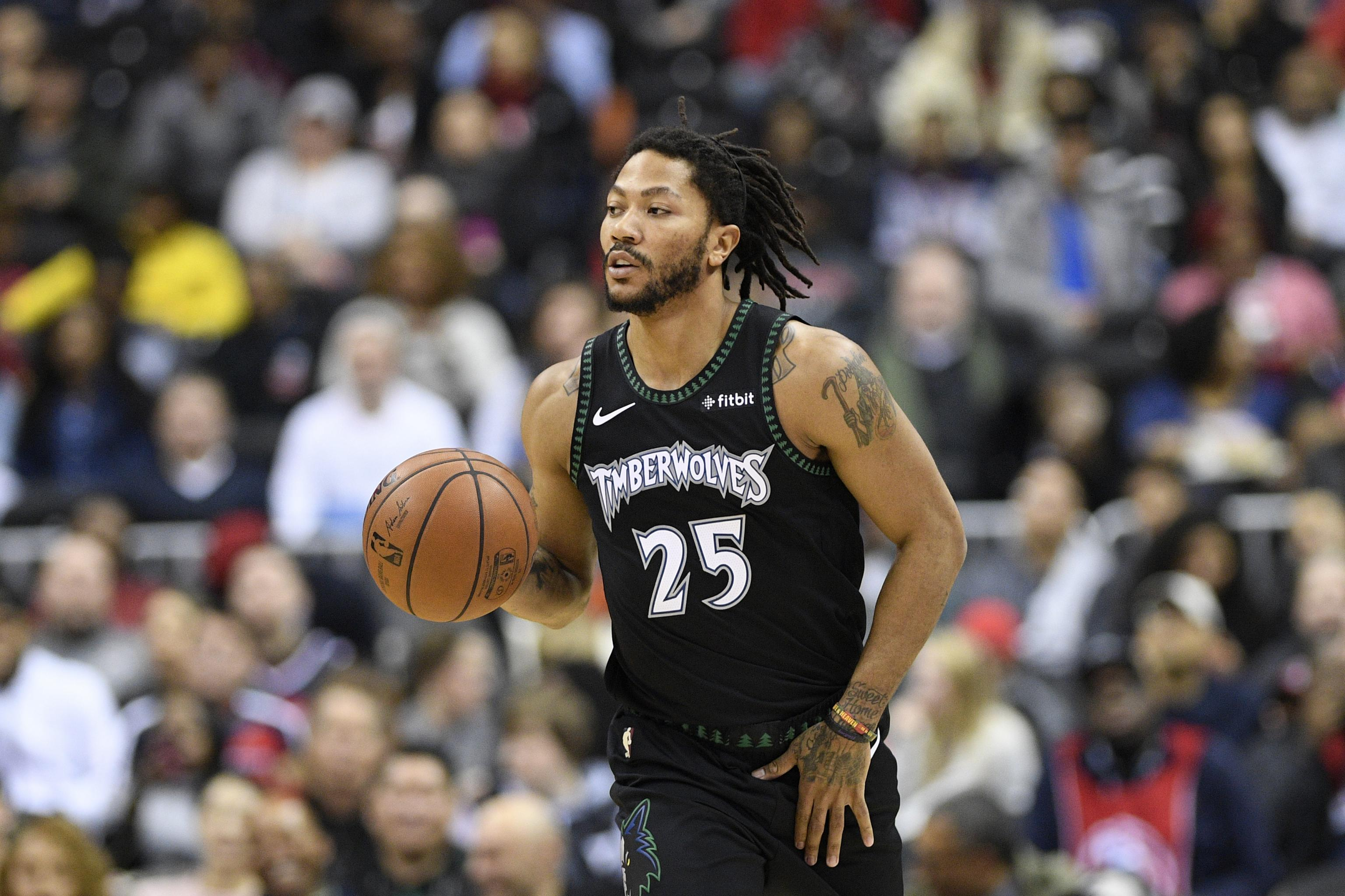 336e7c09b026 Derrick Rose Rumors  Pistons to Consider Timberwolves PG in Free Agency